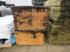 2 X LARGE PACKS OF SHIPLAP TIMBER CLADDING BOARDS 1.73M X 10CM APPROX.