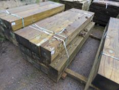 "PALLET CONTAINING 14 X HEAVY DUTY SQUARE GATE POSTS. 2.1M LENGTH X 7"" X 7"" APPROX."