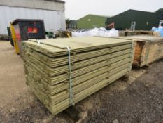 PACK OF SHIPLAP TIMBER CLADDING 1.73M X 10CM APPROX.