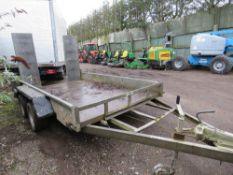 INDESPENSION WIDE BODIED 3500KG RATED PLANT TRAILER SN:093174.