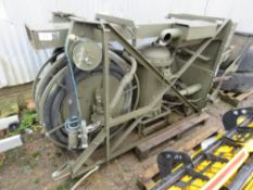 DIESEL ENGINED FUEL PUMPING UNIT WITH HOSE AND GUN, LITTLE SIGN OF USEAGE.