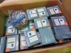 BOX OF THERMOSTATS PLUS BATTERIES.