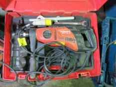 HILTI DD110-D DIAMOND DRILL PLUS ANOTHER ONE FOR SPARES/REPAIR. UNTESTED, CONDITION UNKNOWN.
