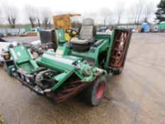RANSOMES COMMANDER 3500 DX 5 GANG RIDE ON CYLINDER MOWER. KUBOTA ENGINE. WHEN TESTED WAS SEEN TO STA