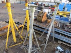 4 X HIGH REACH SUPPORT STANDS, 7500KG RATED. 2 X SOMERS TOTAL KARE TYPE AND 2 X OTHERS. SUITABLE FOR