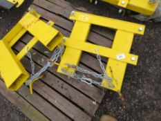 2 X FORKLIFT MOUNTING FRAMES SUITABLE FOR SNOW PLOUGH ETC.