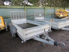 INDESPENSION 10FT X 5FT TRAILER, 2600KG RATED SN:107522. PREVIOUS COUNCIL USAGE.