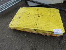 5 X GRP MANHOLE OR TRENCH CROSSING PLATES.