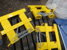 3 X FORKLIFT MOUNTING FRAMES SUITABLE FOR SNOW PLOUGH ETC.