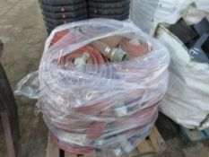 PALLET OF LAYFLAT TYPE FIRE HOSES.