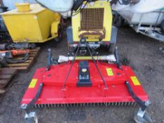 6FT APPROX WIDTH TRACTOR MOUNTED FINISHING MOWER WITH PTO SHAFT.
