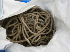BULK BAG CONTAINING ROPES.