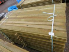 LARGE PACK OF SHIPLAP FENCE CLADDING TIMBER. 1.73M LEGTH X 10CM WIDTH APPROX.