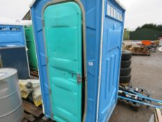 PORTABLE SITE TOILET WITH SINK.