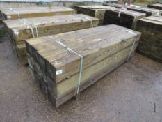 "PALLET CONTAINING 12 X HEAVY DUTY SQUARE GATE POSTS. 2.1M LENGTH X 7"" X 7"" APPROX."