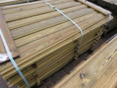 LARGE PACK OF SHIPLAP FENCE CLADDING TIMBER. 1.55M LENGTH X 10CM WIDTH APPROX.