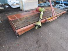 VOTEX 3 BLADED PASTURE TOPPER MOWER, 9FT WIDE APPROX. WITH PTO SHAFT. SOLD UNDER THE AUCTIONEER'S M