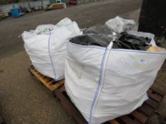 2 X BULK BAGS CONTAINING OFFCUT TIMBER FOR FIREWOOD.,