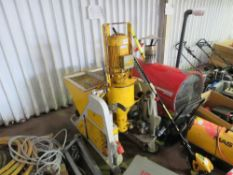 QUATTRO UTIFORM 3 PHASE POWERED PLASTER/SCREE APPLICATOR UNIT. YEAR 2012. 7.5KW RATED WITH HOSES, CA
