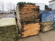 2 X PACKS OF FLAT UNTREATED TIMBER CLADDING BOARDS 1.45M & 1.75M X 10CM WIDE APPROX.