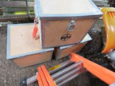 3 X BOXES CONTAINING TILE/FLOOR SANDING/GRINDING PADS AND ATTACHMENTS.
