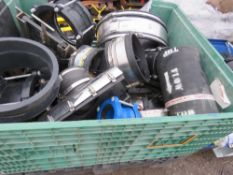 STILLAGE OF LARGE DIAMETER PIPE CLAMPS/JOINERS.