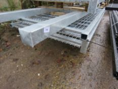 PAIR OF EUROP GALVANISED GATES WITH POSTS. 2420 HEIGHT X 2600MM TOTAL WIDTH APPROX. (PALLET C)