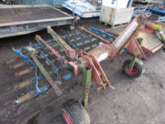 OPICO TYPE GRASS HARROW, TARCTOR MOUNTED. SPRUNG TINES SUITABLE FOR DETHATCHING THE SWARD. 7FT WIDTH