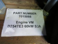 VM D754TE3 DIESEL ENGINE, 60W-S3A TYPE.