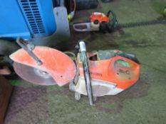 STIHL TS410 PETROL SAW. UNTESTED CONDITION UNKNOWN.