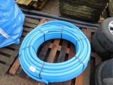 QUANTITY OF BLUE WATER PIPING PLUS 2 X BLACK DRAIN PIPES.