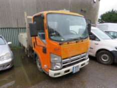 ISUZU 3500 KG RATED DROP SIDE PICKUP TRUCK WITH REAR TAIL LIFT REG:KX11 CCZ. DIRECT EX LOCAL COMPANY