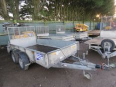 IFOR WILLIAMS GD105MK3 PLANT TRAILER, 10FT X 5FT APPROX. SN:SCK60000070504774. PREVIOUS COUNCIL USAG
