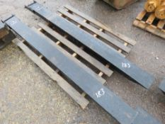 PAIR OF FORKLIFT EXTENSION TINES WITH SECURING PINS, 6FT LENGTH APPROX.