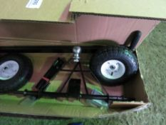 TRAILER MOVING DOLLY, BOXED, BALL HITCH TYPE.