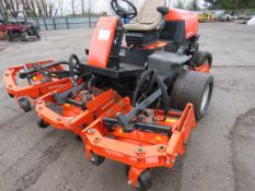 JACOBSEN AR250 4W 5 GANG ROTARY RIDE ON MOWER. 4 WHEEL DRIVE. WHEN TESTED WAS SEEN TO DRIVE, STEER A