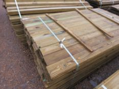 LARGE PACK OF FLAT CLADDING TIMBER BOARDS 10CM WIDE X 1.74M APPROX.