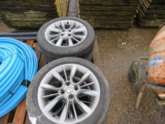 "4 X VAUXHALL 16"" WHEELS AND TYRES."