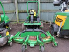 JOHN DEERE 1565 SERIES 2 OUT FRONT 4WD ROTARY MOWER, YEAR 2008 BUILD. 7 IRON V FLEX DECK FITTED, 6FT