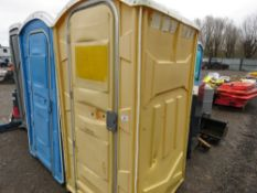 PORTABLE SITE TOILET WITH SINK (NO FLUSHING HANDLE).