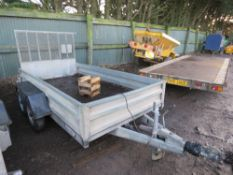 INDESPENSION 10FT X 5FT TRAILER, 2600KG RATED SN:107521. PREVIOUS COUNCIL USAGE.