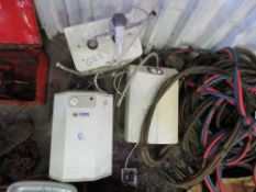 3 X WATER HEATERS. UNTESTED, CONDITION UNKNOWN.
