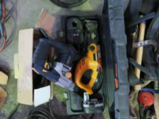WORX BATTERY RECIP SAW PLUS A GMC BREAKER DRILL. UNTESTED, CONDITION UNKNOWN.