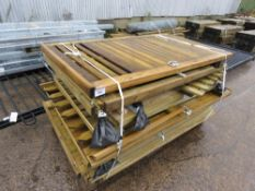 PALLET CONTAINING APPROXIMATELY 12 X WOODEN PEDESTRIAN GATES.