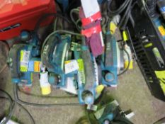 4 X MAKITA 110 VOLT POWER PLANERS. UNTESTED, CONDITION UNKNOWN.