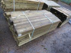 LARGE PACK OF FEATHER EDGE TIMBER FENCE CLADDING. 1.8M LENGTH X 10.5CM WIDTH APPROX.