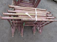 9 X SMALL SIZED BUILDER'S TRESTLE STANDS.