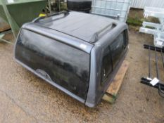 TOYOTA HILUX REAR CANOPY, GREY. BELIEVED TO BE OFF A YEAR 2013 DOUBLE CAB MODEL.