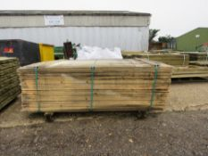 LARGE PACK OF VENETIAN UNTREATED FENCING SLATS 1.83M X 5CM APPROX.