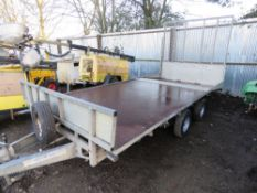 IFOR WILLIAMS LT146G/B BEAVER TAILED TWIN AXLE PLANT TRAILER. SN:SCK400000YO284470. PREVIOUS COUNCIL